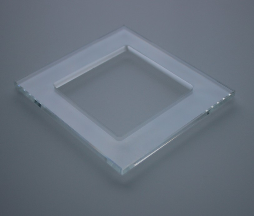 3mm4mm tempered glass Bevel face for touch switch panel/light switch glass cover for Wall convector