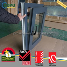 PVC sound insulation residential window, high energy-efficient tilt turn windows