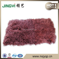 Wholesale Soft and Cosy Tibetan Mongolian Lamb Fur Royal Blanket