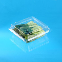 wholesale custom-made PET plastic ventilated packing box for fruit and vegetable