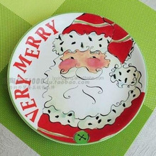 wholesale Christmas decorative ceramic candy dish plate