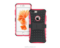 New Arrival Hybrid Silicone Hard PC Kickstand Armor Case for iphone7 case