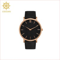 Coean 2017 New Product High Quality Fashion Design leather Strap Watch With Waterproof