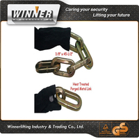 "3/8 X 45.5"" Square Chain Link Heat Treated Steel Sleeve"