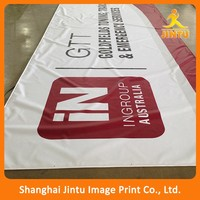 2016 Dye Sublimation Print Polyester Fabric Banner With Pocket