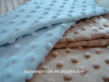 High quality dot velboa minky fabric