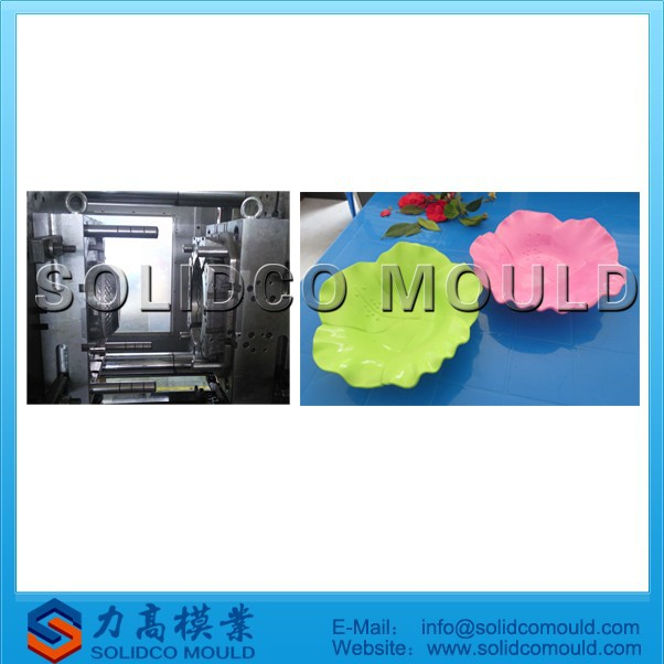 flower shape plate mold, plastic plate mould, fruit plate mould