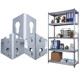 Light duty steel metal home storage rack boltless rivet shelf