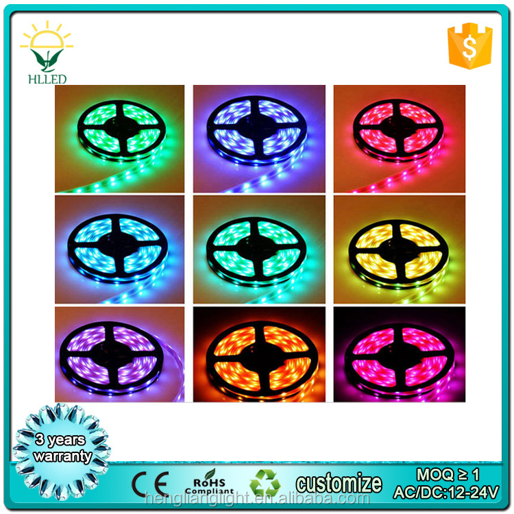 hot 5050 60pcs led remote controlled battery operated led strip light