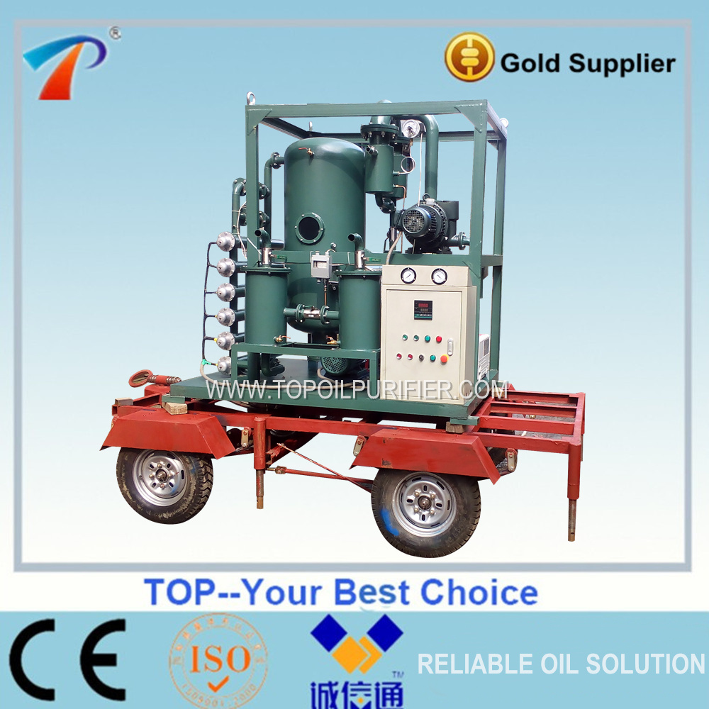 ZYD-S Roadworthy transformer oil treatment/oil dewater degas/oil dehydration plant
