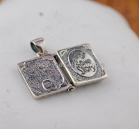 engrave words book locket pendant 925 terling silver Open Book Charms