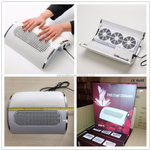 Nail Fan Art Salon Suction Nail Dust Collector Machine Vacuum Cleaner With 3 Fans + 2 Bags Acrylic UV Gel Machine FX-7