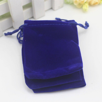 Royal blue wedding favors jewelry gift packaging velvet bags