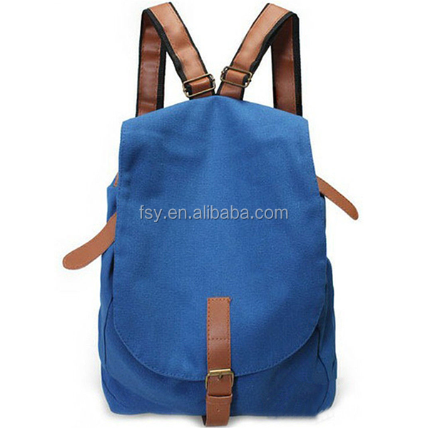 Stylish backpack made in China canvas shoulder tote bag
