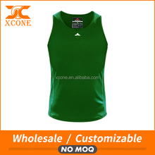 Custom Slim Fit 95% Polyester 5% Spandex Breathable Dry Fit Tank top Blank T Shirts