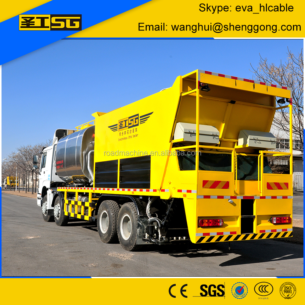 2016 Spray Width 3800mm Chip Sealer, Chip and Asphalt Paver Truck