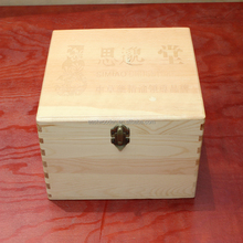 Hot selling manufactory eco-friendly big wooden packaging box with small draws for tea, jewelry etc