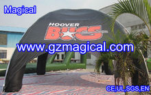 Black inflatable rain cover advertising tent
