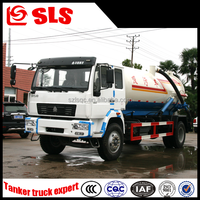 3000L sewer cleaning truck, vacuum sewage suction truck, sludge truck