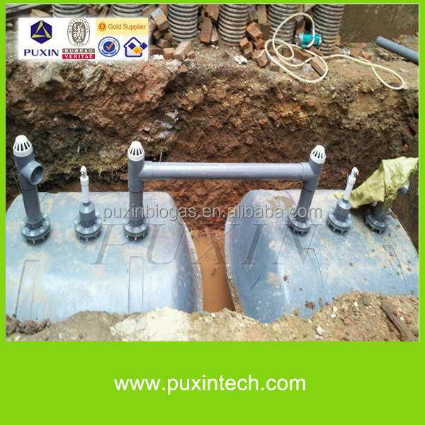 PUXIN durable humanity septic tank biogas power plant system