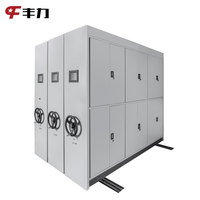 Steel Movable Storage Shelves Mobile Compactor System Metal Sliding Files Shelf