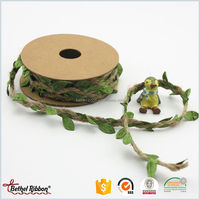 New design OEM with delicate design jute ribbon