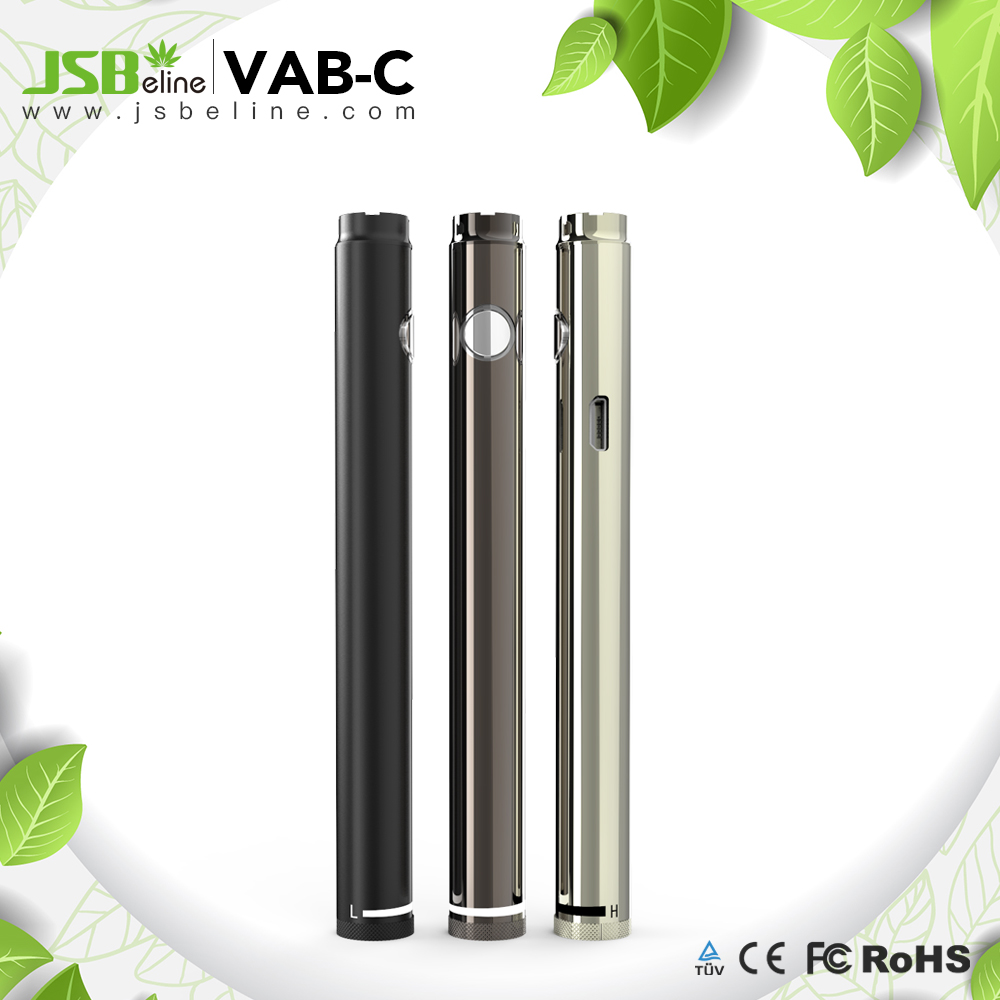 cbd oil vape battery 420mah adjustable voltage from 2V to 4V Vab-C from JSB factory 2017