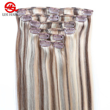 Hair Extension Human Clip Remy Virgin White Girl Hair Extension Bulk Products From China