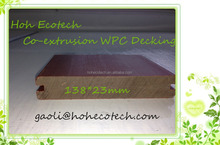 138*23mm Plastic cover wpc decking low rate capped co-extrusion wpc