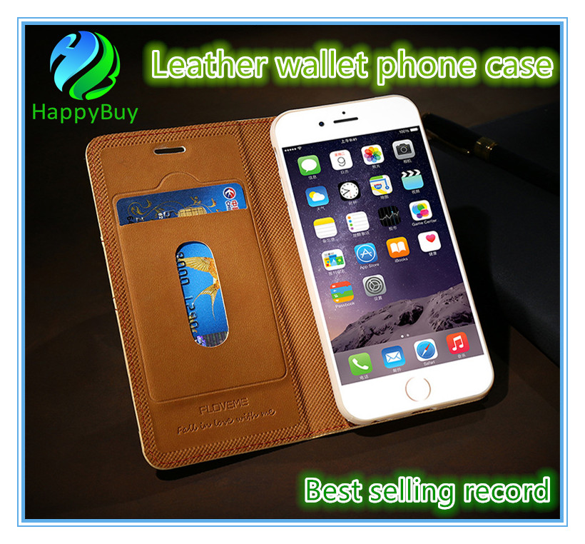 Leather wallet case wholesale price PU luxury protective defender flip phone case for iphone 6/6s/6 Plus/6s Plus 7/7 Plus