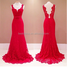 Summer Dress Walson Apparel Women Ladies Red Backless Lace Maxi Long Party Evening Cocktail Formal Dress