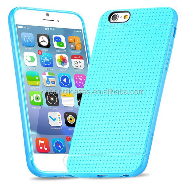 Soft SIlicone Flexible Fashion Polka Dot Ultra Thin Case for iphone 6 4.7''