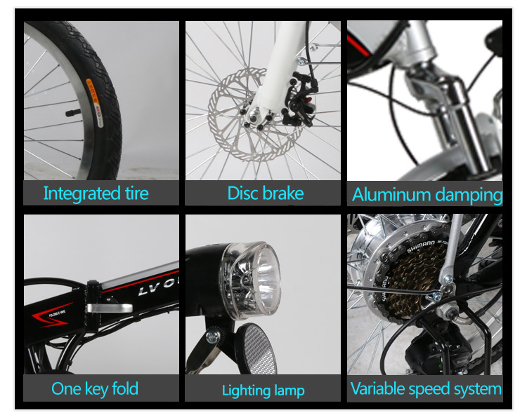 Freego electric E-bike best quality Foldable electric bycicle motor