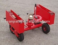 portable carrying cart for fire monitor