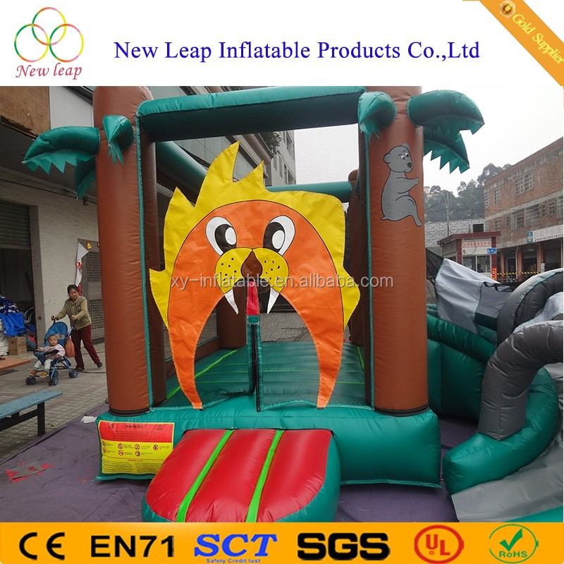 2017 Outdoor sports bouncy house slides beach toys inflatable bouncer