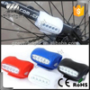 Bike Cycling Bicycle 7 LED Silicone Gel Lamp Front Safety Lights Rear Warning Lamps