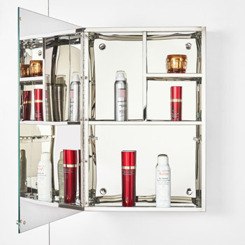 High standard bathroom mirror cabinet without light modern bathroom rust-free cabinet