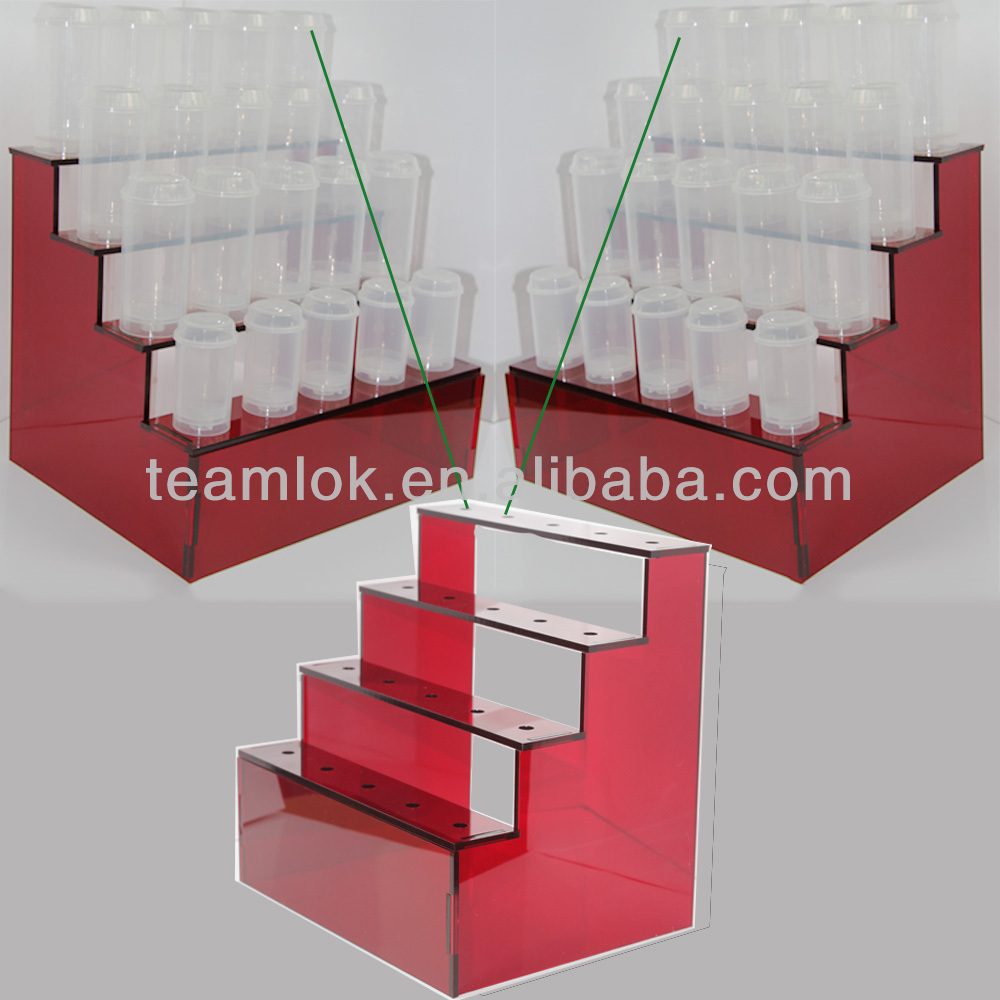 20 Holes Red Acrylic Cake Push Pop Stand Holder Display