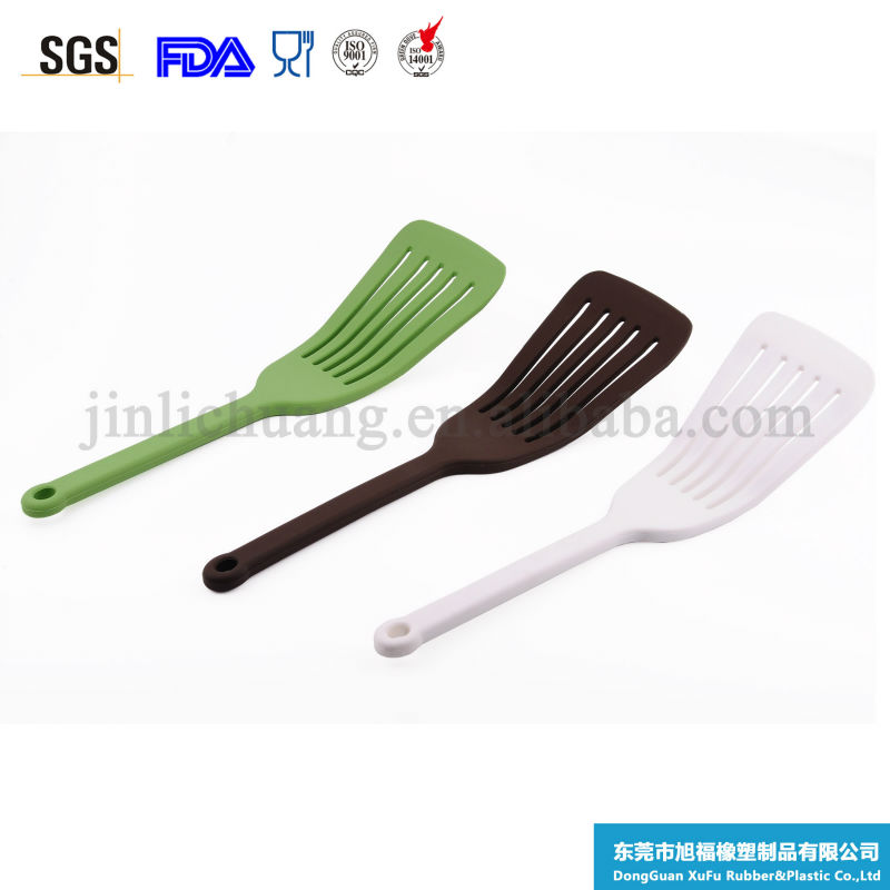 Food safe kitchen cooking tools silicone slotted frying turner pizza turner