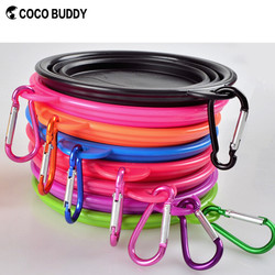 Top seller collapsible dog bowl with carabiner waterproof folding dog bowl hot travel dog bowl 2015