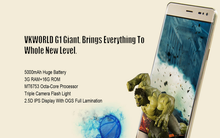 "in stock ! 5.5"" Vkworld G1 dual sim card octa core MTK6753 3gb ram +16gb rom 5+8mp camera android phone"