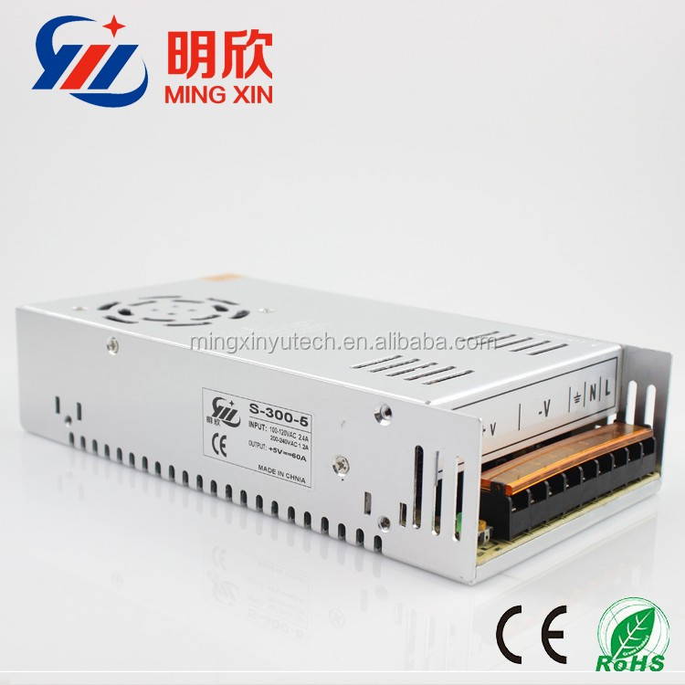 5v 60a conestant voltage switch mode power supply , 300w led power supply
