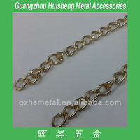 light gold Color iron madel Chain for bag-6mm diameters Garment Metal Chain