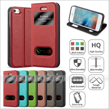 Double View Window Pu Leather Stand Case Cover For Apple iPhone 5