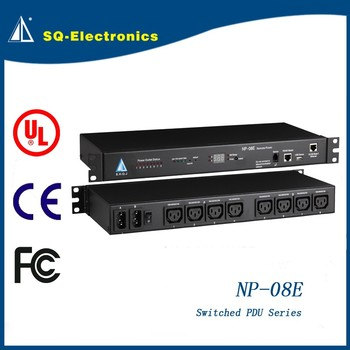 Switched PDU-08E Europe network pdu with SPD