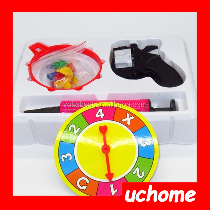 UCHOME Russian Party Lucky Roulette Balloon Gun Shots Drinking Game