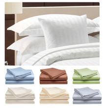 T180-T300 white solid color cotton polyester hotel bed sheets