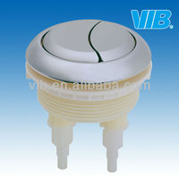 Toilet dual top round shape push button