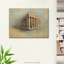 Greece Architecture Painting Handmade Oil Painting Canvas Art Framed Art