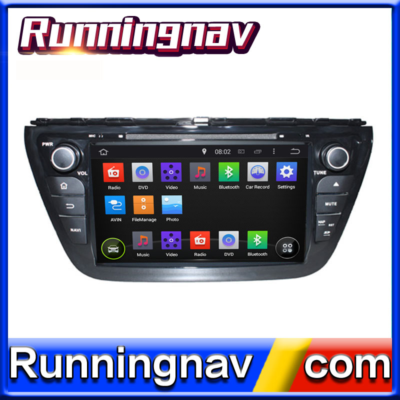 "8"" Android 5.1 For Suzuki SX4 / S Cross 2014 2 Din Quad Core / Qcta Core Universal Car DVD Player GPS Navigation Radio"